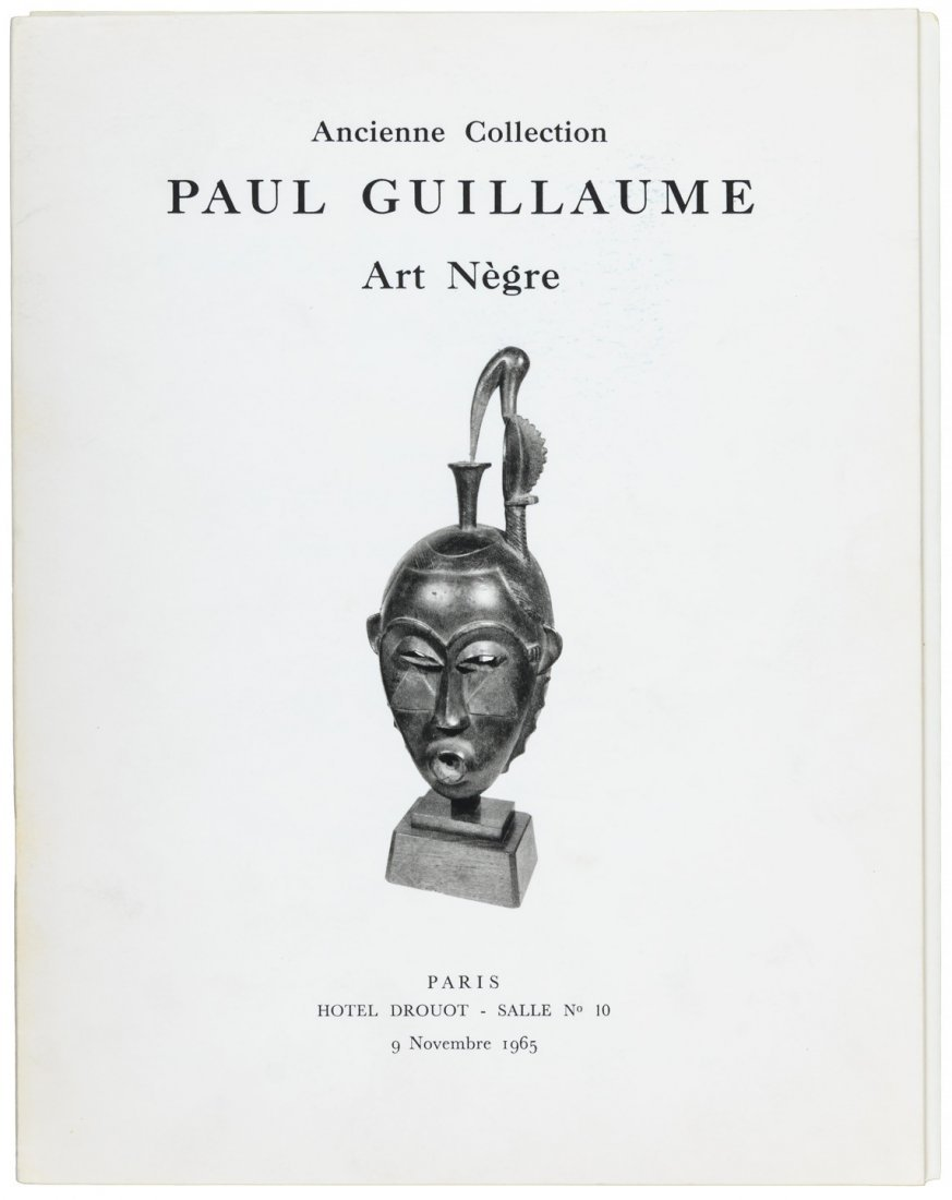 Catalog of the Paul Guillaume collection of African