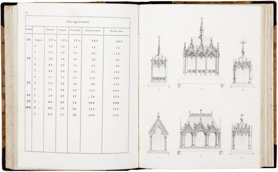 Rare catalogue of French candelabra