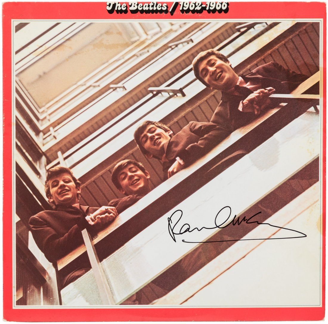 Beatles album signed by Paul McCartney