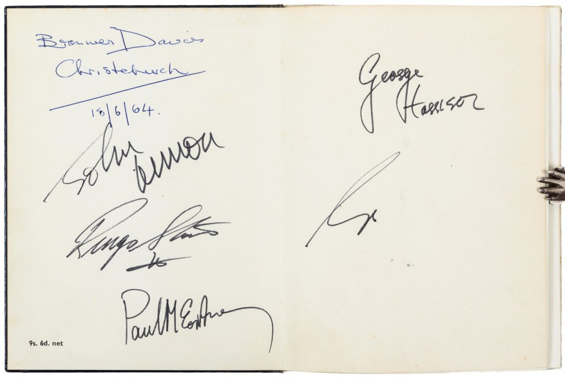 ***WITHDRAWN***Signed by all four of The Beatles