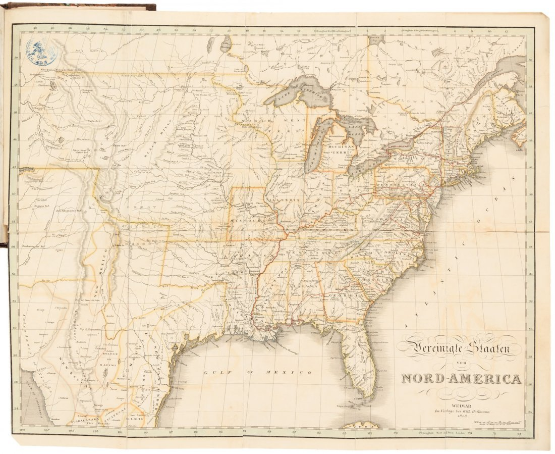 German traveler in U.S. 1828 with maps
