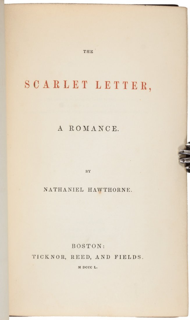 Hawthorne's Scarlet Letter First Edition