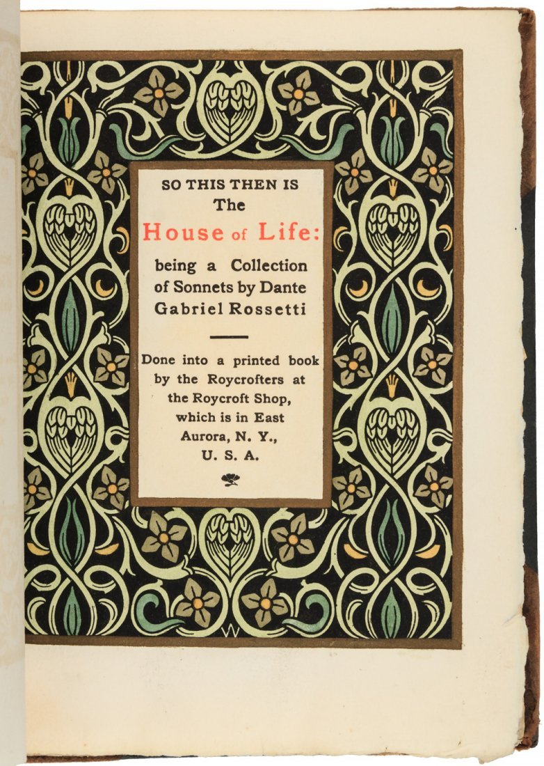 The House of Life - Rossetti - Roycroft Printing