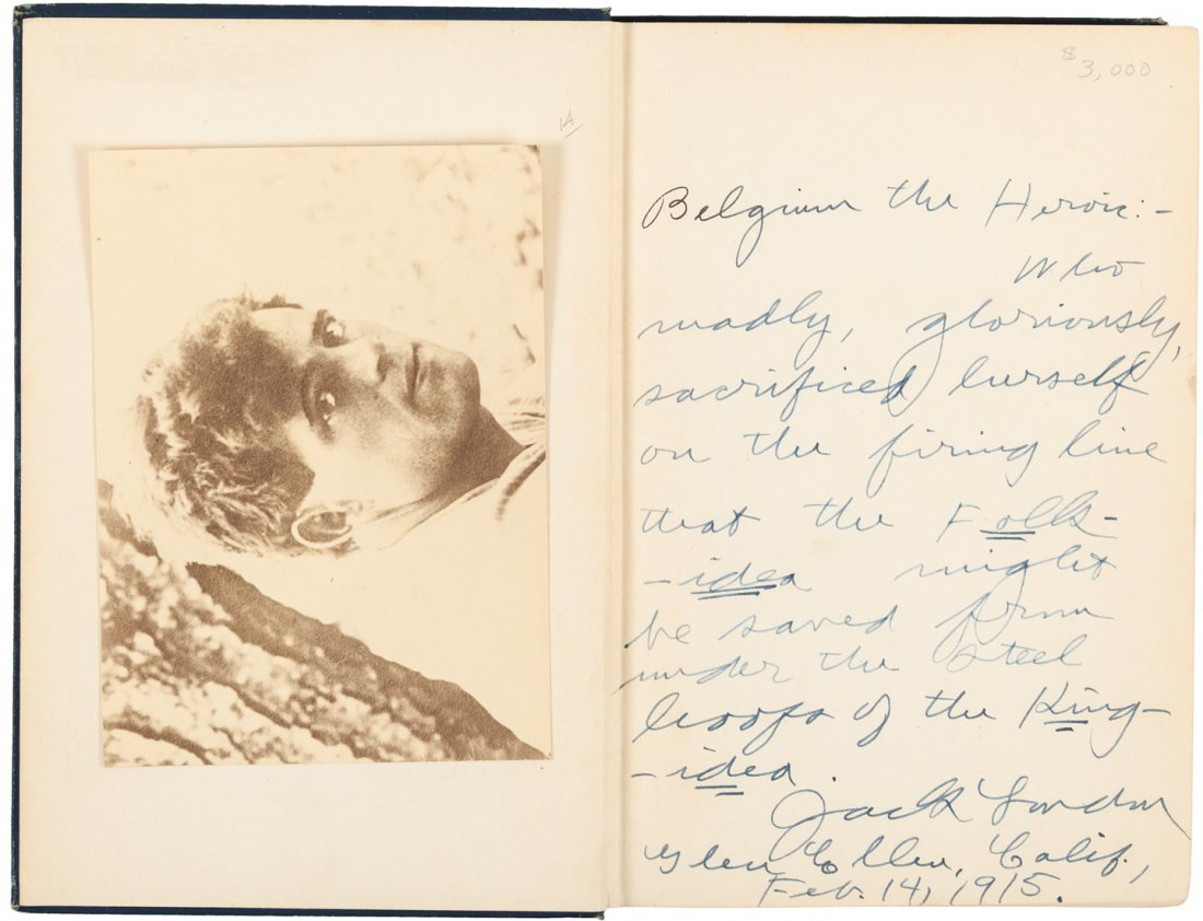 Jack London Adventure Inscribed by the author