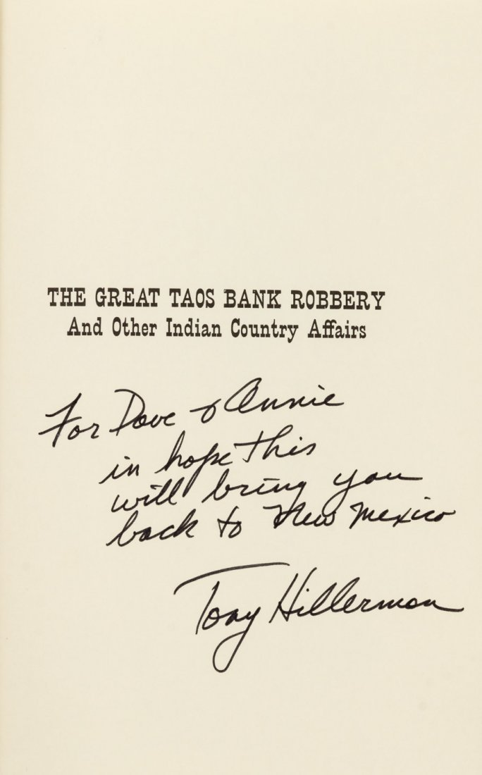 The Great Taos Bank Robbery, Tony Hillerman. - 2