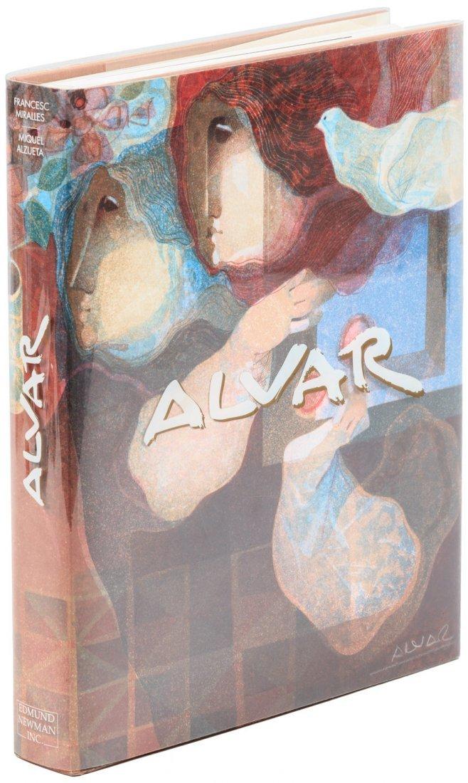Alvar with an original signed lithograph