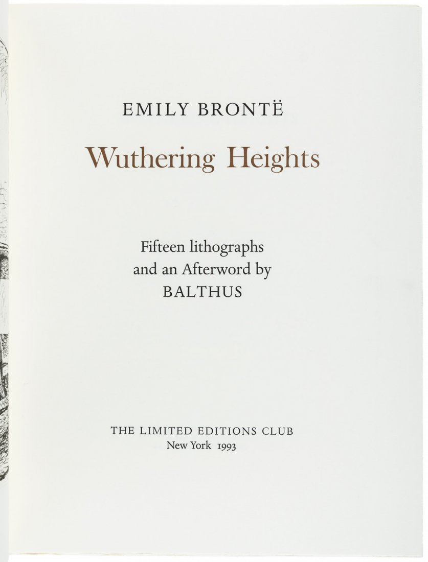 Wuthering Heights illustrated by Balthus - 2