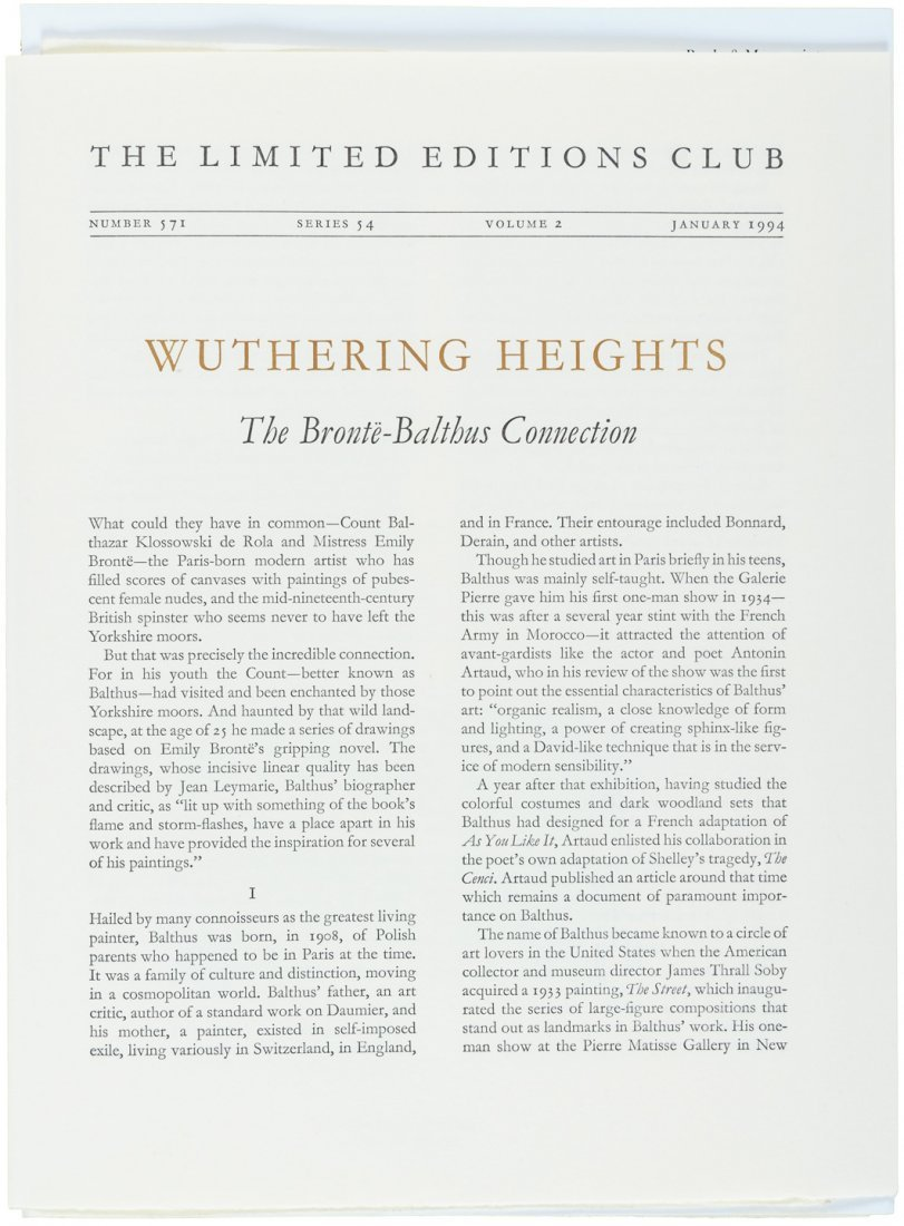 Wuthering Heights illustrated by Balthus - 7