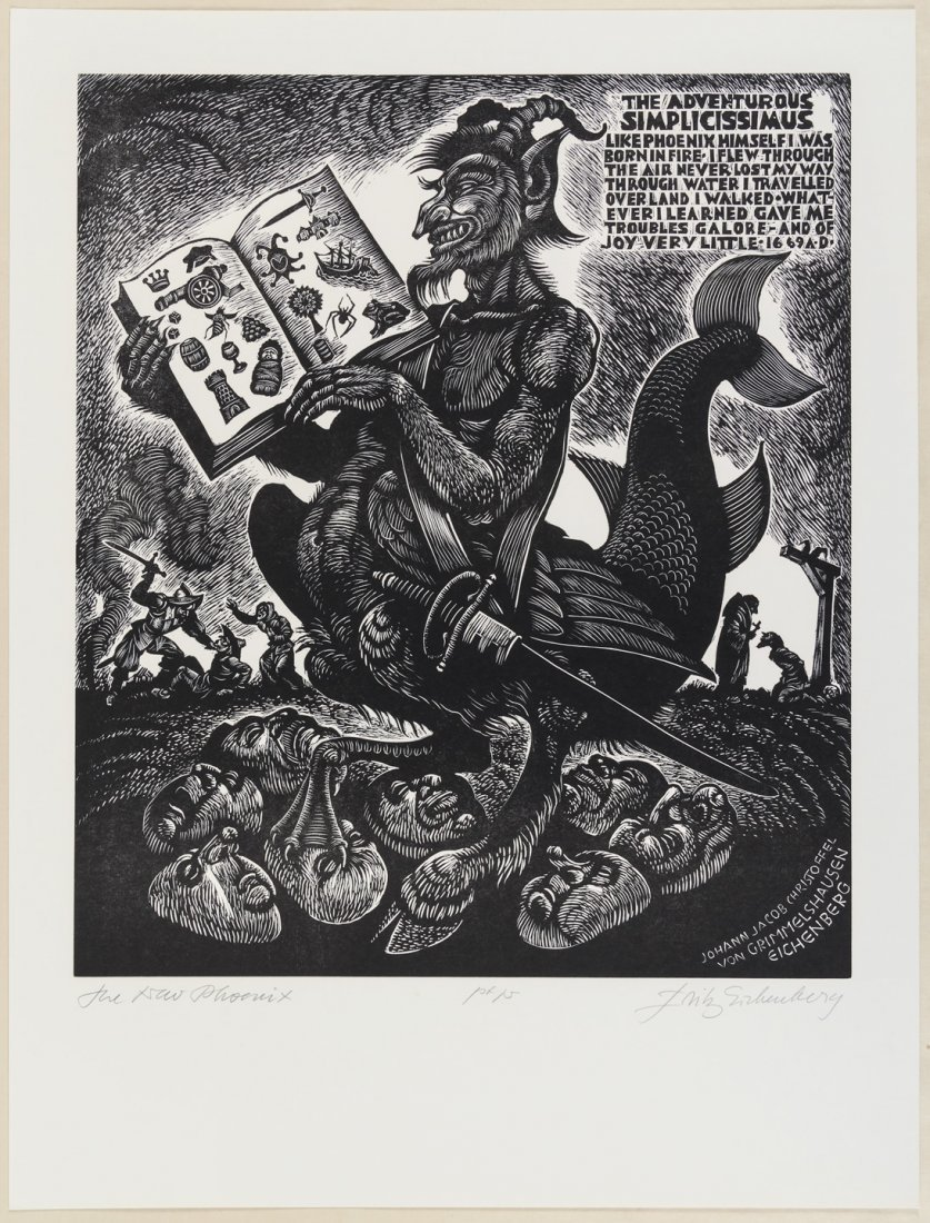 Suite of Fritz Eichenberg wood engravings for