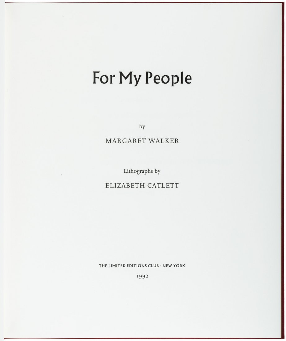 Margaret Walker & Elizabeth Catlett For My People LEC - 3