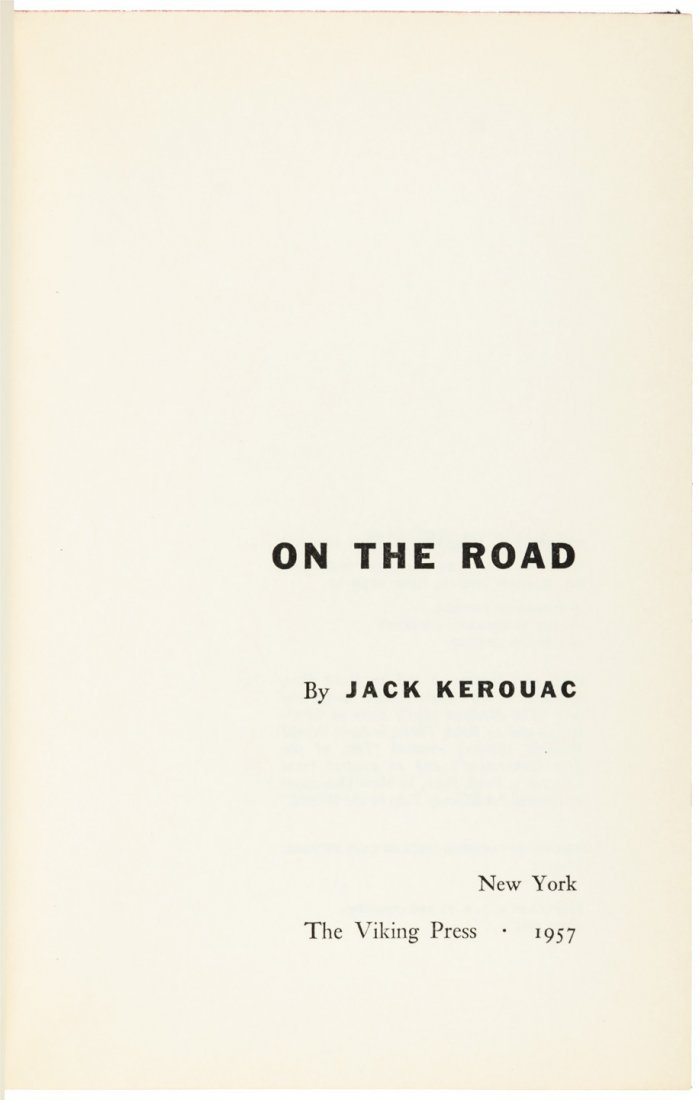 Kerouac's On the Road - First Edition with jacket - 2