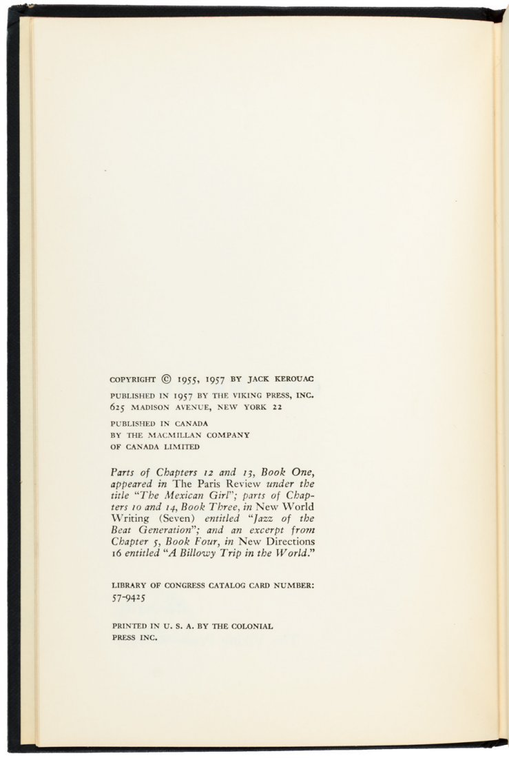 Kerouac's On the Road - First Edition with jacket - 3