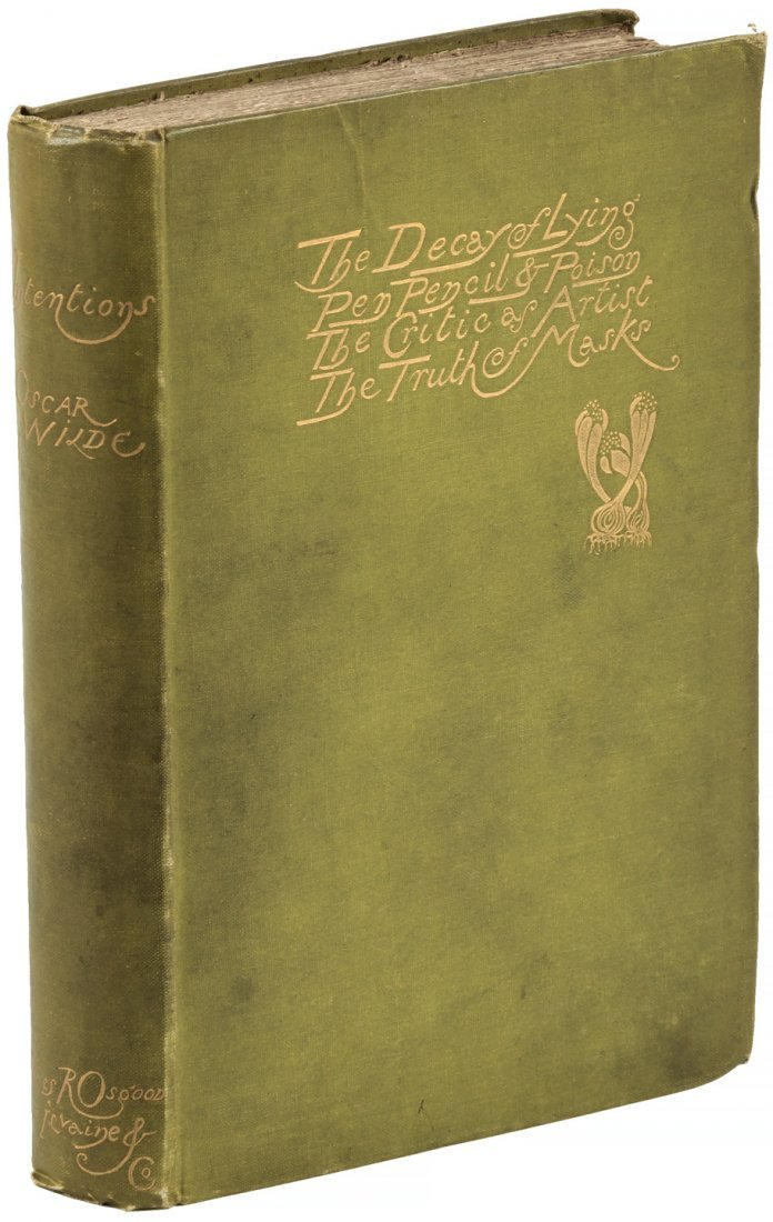Oscar Wilde Intentions First Edition