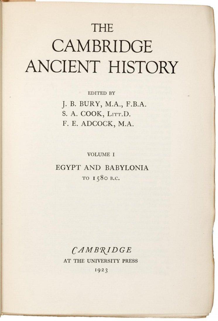 16 volumes Cambridge Ancient History 1923-1960