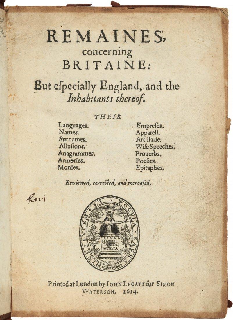 Camden's Remaines of Britaine 1614