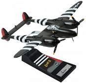 Signed Limited Edition Danbury Mint P-38 model