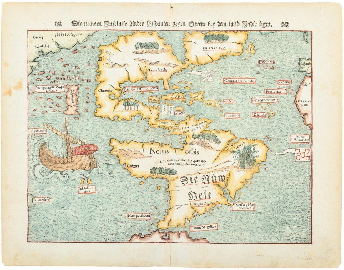 Munster map of Americas 1574