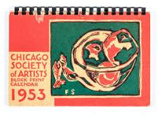American Woodblock art calendars, Chicago 1953-56
