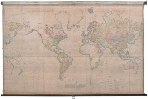Aaron arrowsmiths 1st map chart of world 1790 gumiabroncs Image collections