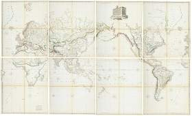 Arrowsmith Hydrographical Chart of World 1814