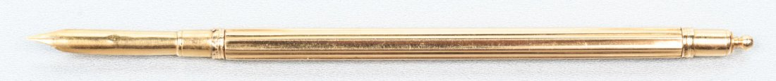 French gold pen with quill, c. 1790