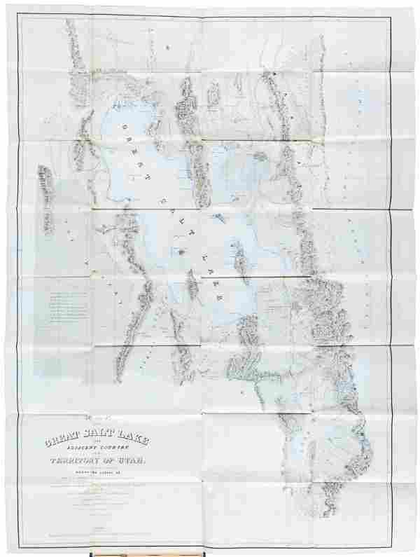 Stansbury's Great Sale Lake with maps