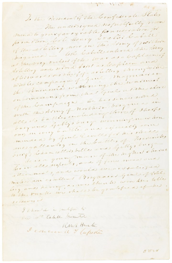 Petition from Confederate soldiers to Jefferson Davis