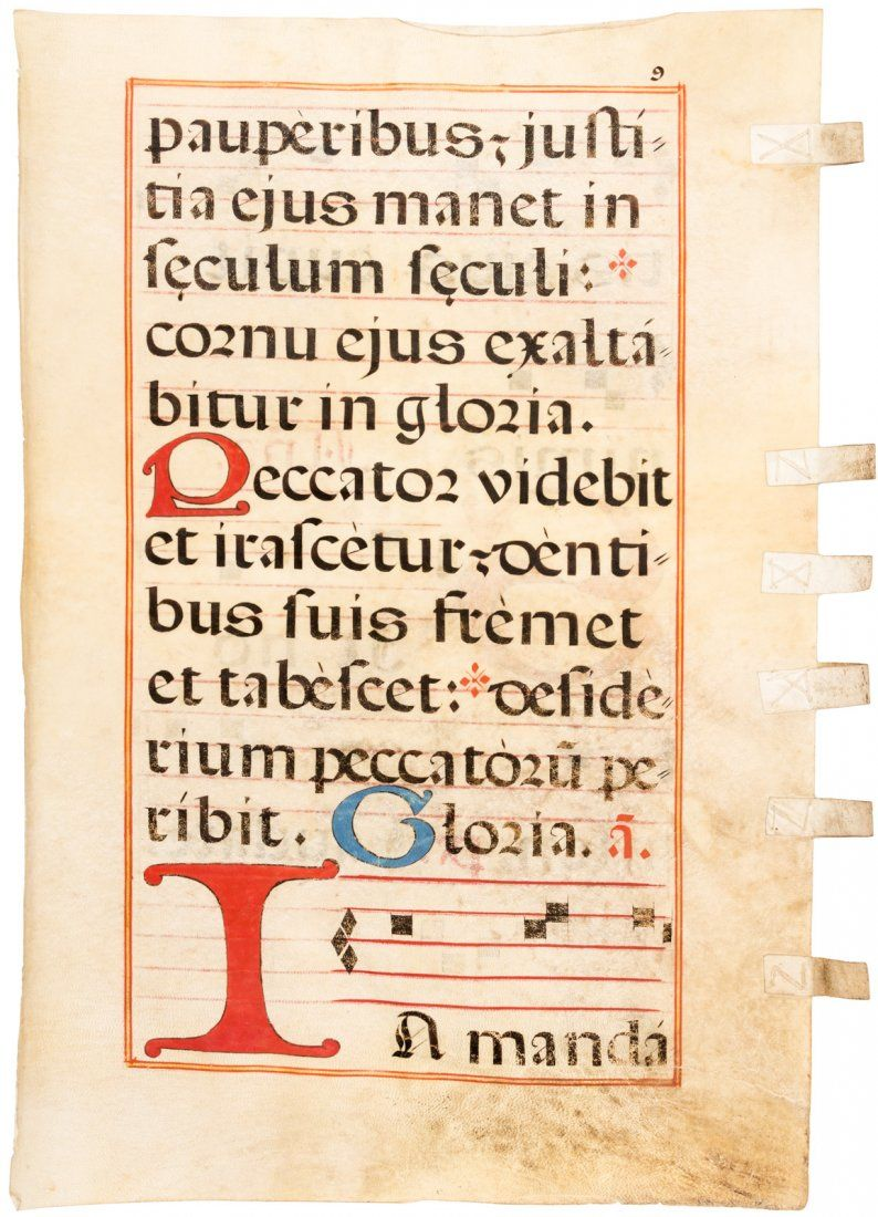 Antiphonal leaf on vellum