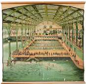 Massive Sutro Baths Lithograph