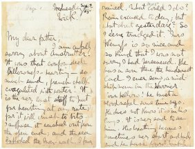Robert Louis Stevenson Writes To His Parents 1868