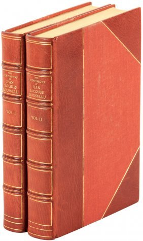Finely Bound The Confessions Of Jean J. Rousseau