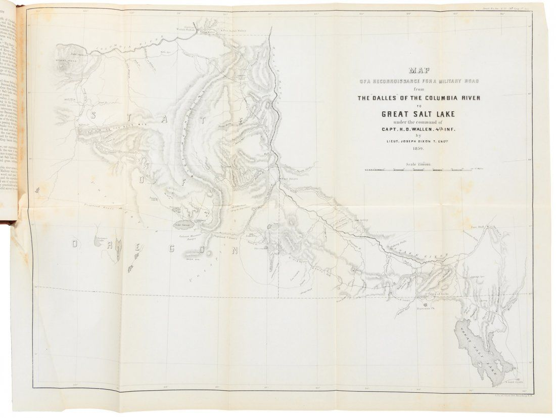 Expedition from Dalles to Sale Lake 1859 with map