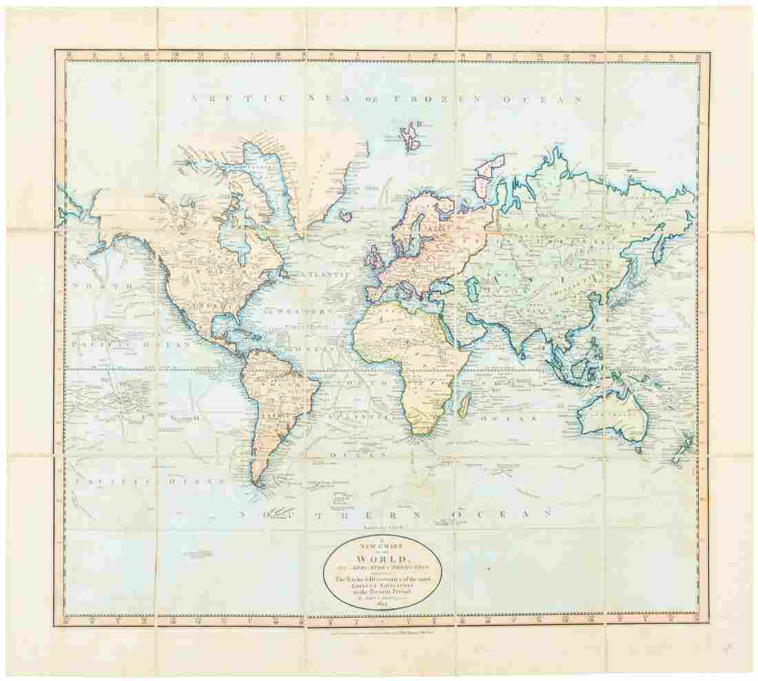 Carey chart of the World 1824