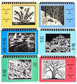 11 Block Print calendars of the Chicago Society of