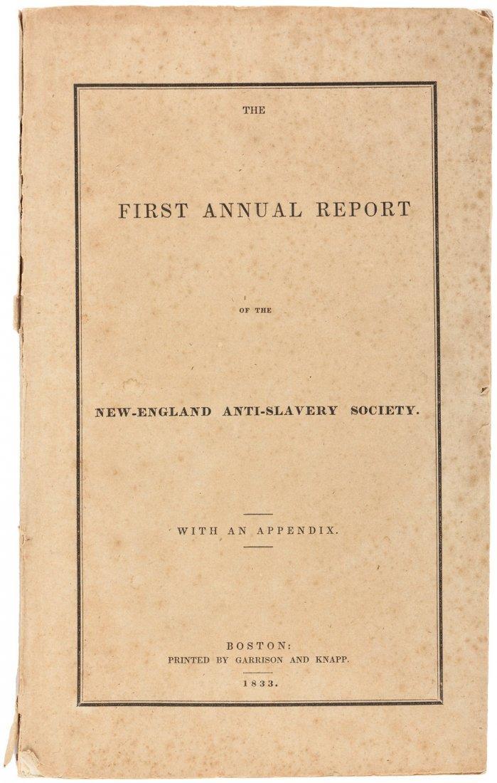 1st anti-slavery society annual report 1833