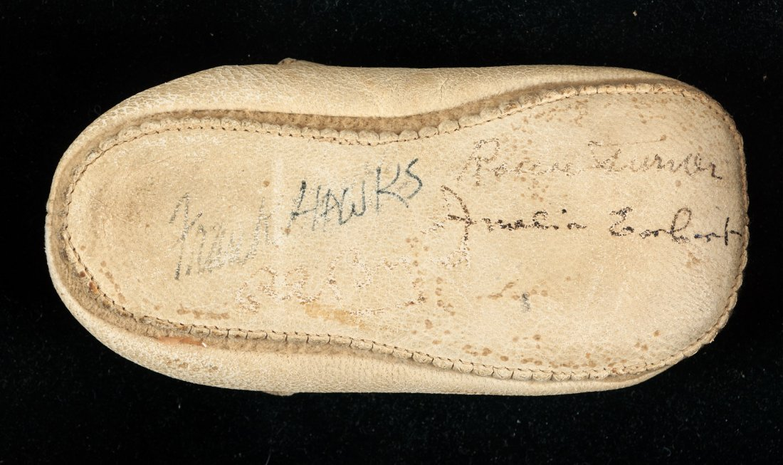 Baby Shoe signed by Amelia Earhart & other aviators