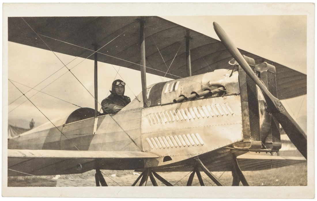 Photo postcards of Glenn Martin aviator