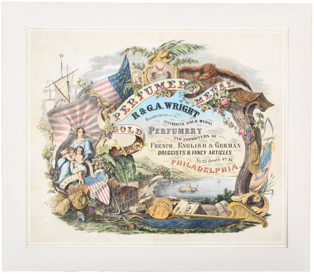 R & G.A. Wright Perfumery Patriotic Advertising