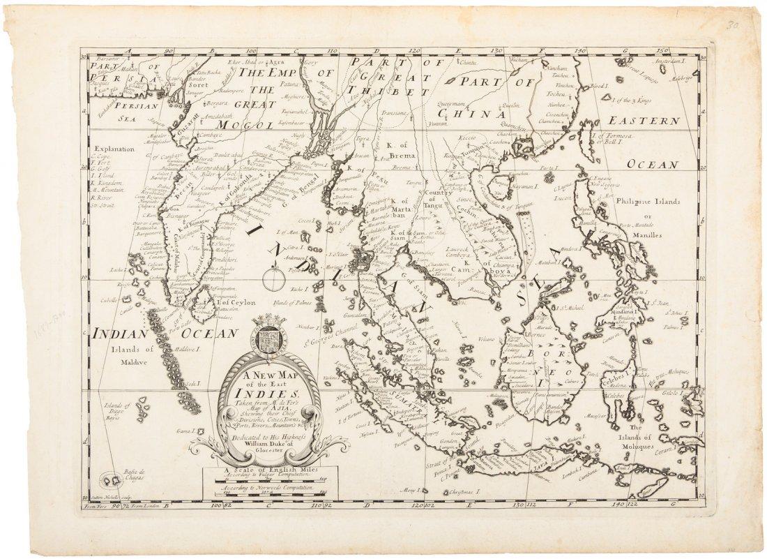 Wells map of East Indies 1700