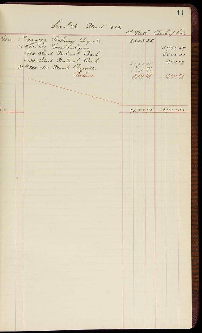 Dutch Sweeney Mining Company Ledger Book 1914-15