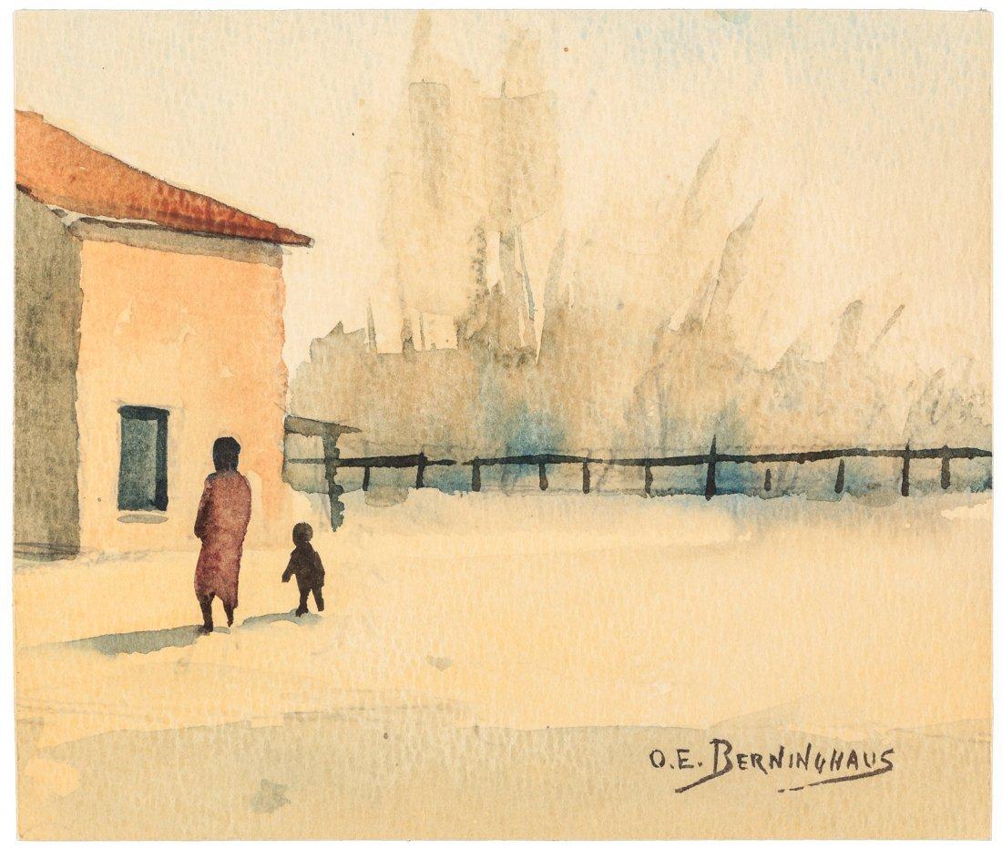Watercolor sketch by Oscar E. Berninghaus