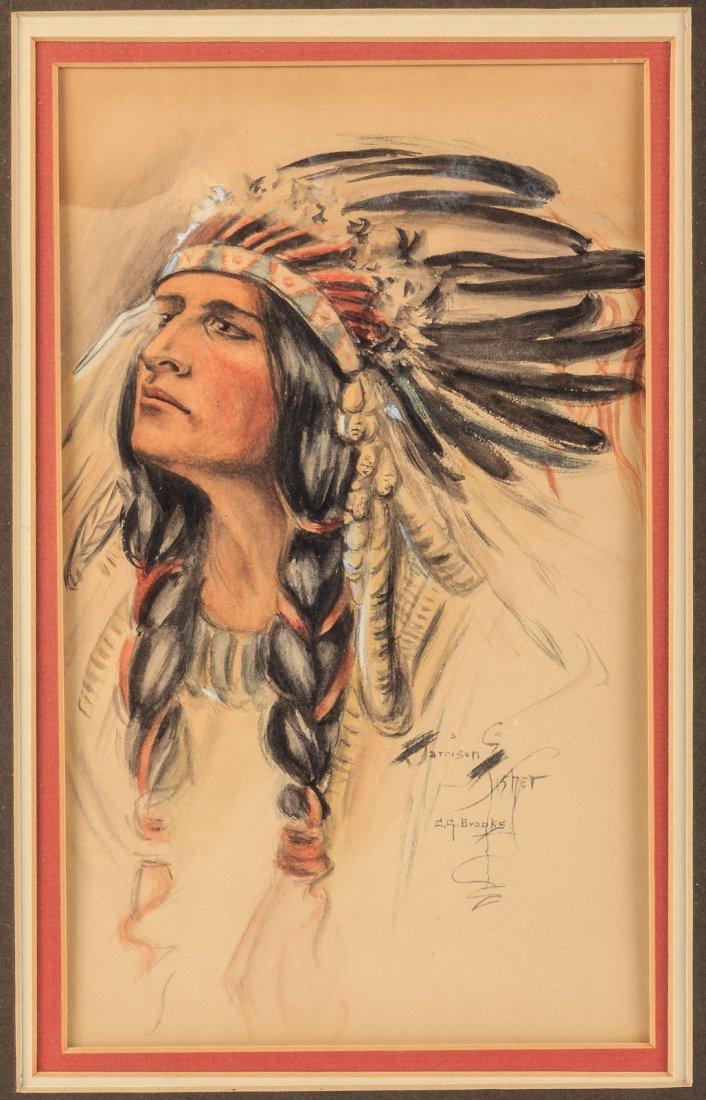 Harrison Fisher painting of Hiawatha