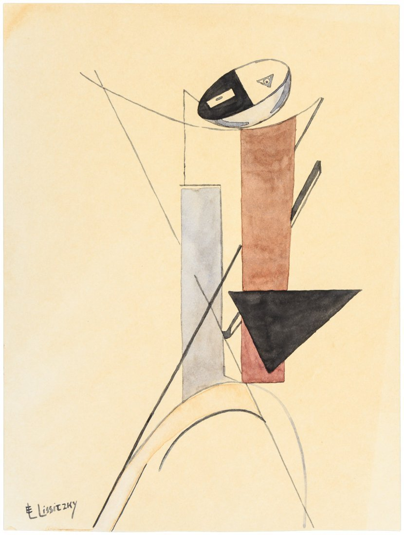 Abstract geometric painting by El Lissitzky