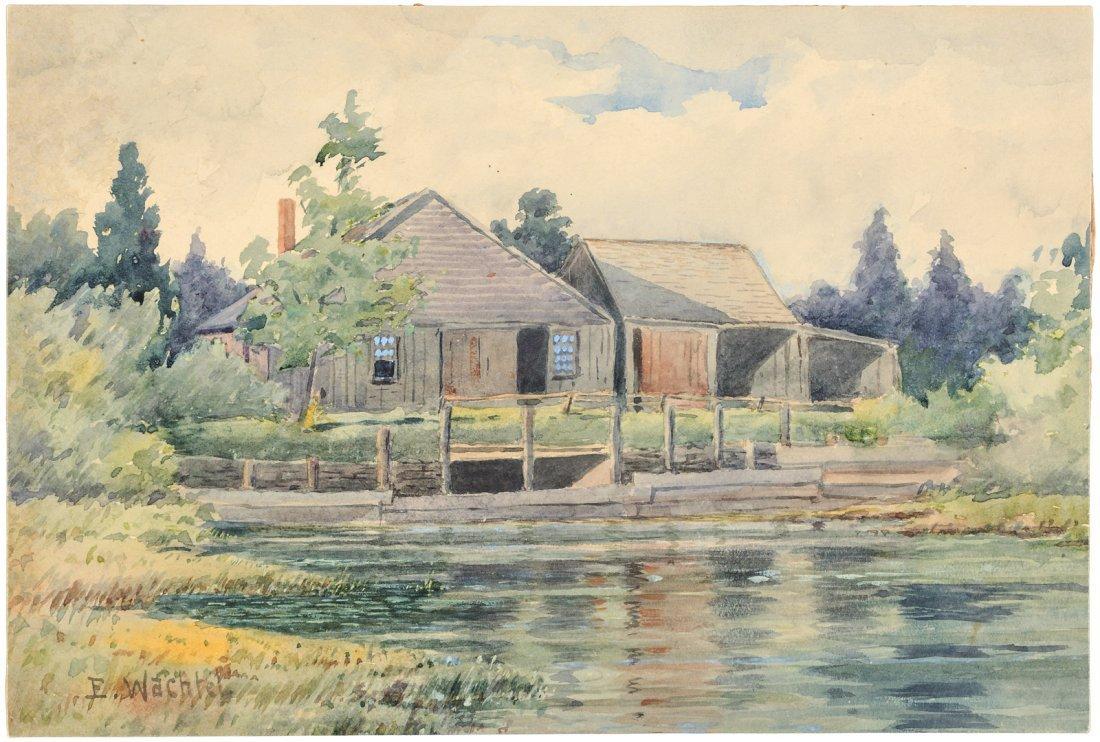 Original watercolor by Elmer Wachtel
