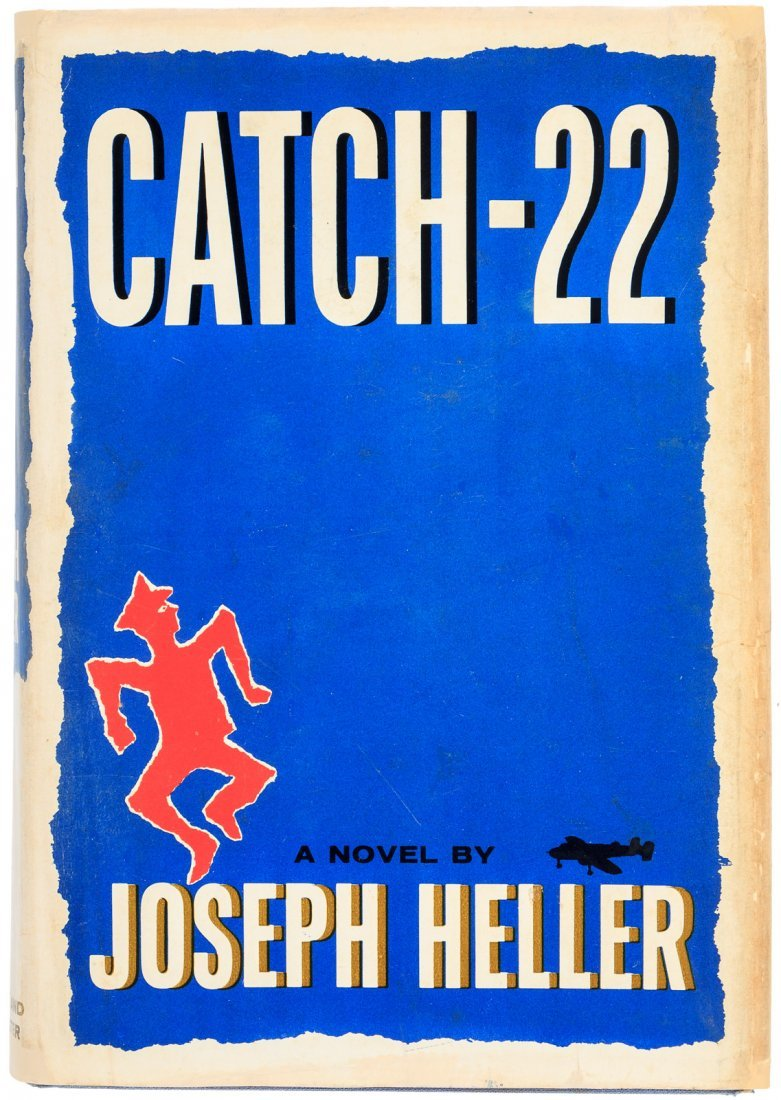 Joseph Heller Catch-22 with signed leaf