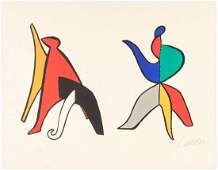 Alexander Calder color lithograph signed