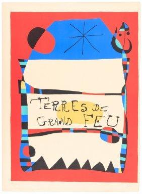 Original Color Lithograph By Joan Miro