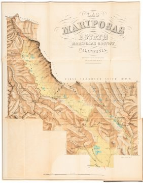 Mariposas Estate 1868 With Map