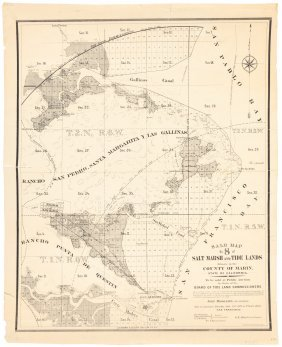 Sale Map Marin County Marshlands 1871