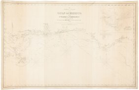 Chart Of Gulf Of Mexico Coast 1864